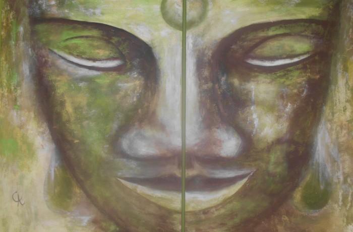 Buddha grün 2-teilig